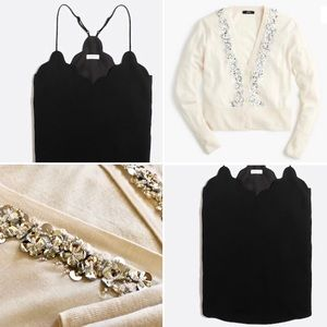 2 J. Crew pieces, black and white, perfect outfit!